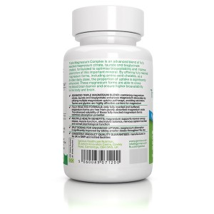 Triple Magnesium Complex (90 caps) iGennus 195mg ανά κάψουλα- Σύμπλεγμα Τριπλού Μαγνησίου, Magnesium Taurate, Bisglycinate & Citrate,  Φόρμουλα Υψηλής Απορρόφησης