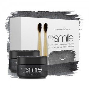 My Smile Activated Charcoal Powder with Bamboo Toothbrush - Eco Masters